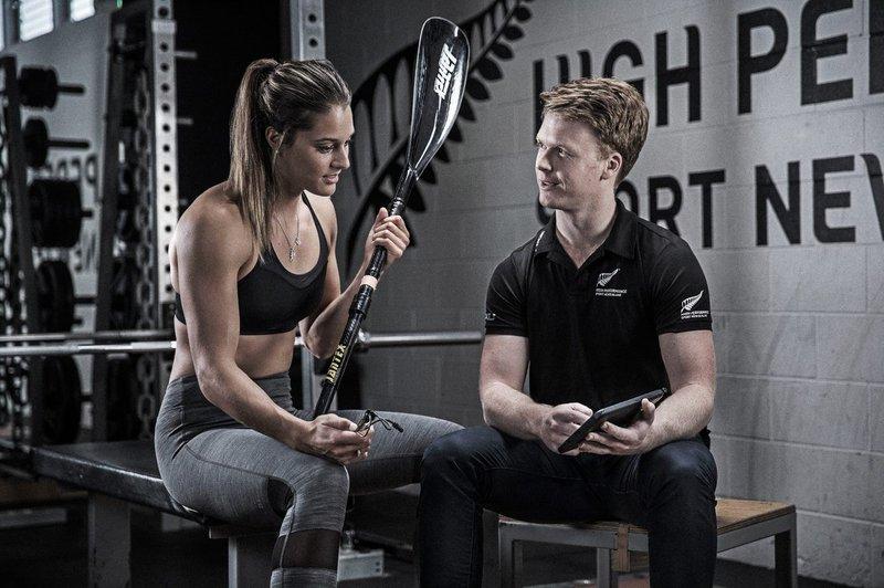 Andre de Jong & paddler Kayla Imrie
